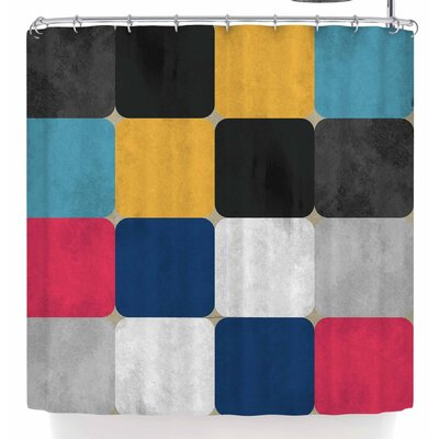 Rosa Picnic Square Shower Curtain