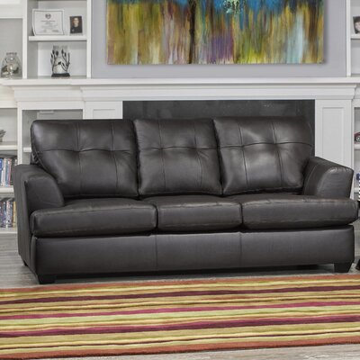 Cowhill Leather Sofa Upholstery: Brown