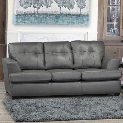 Cowhill Leather Sofa Upholstery: Light Gray