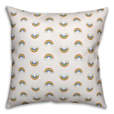 Bice Rainbow Pattern Throw Pillow