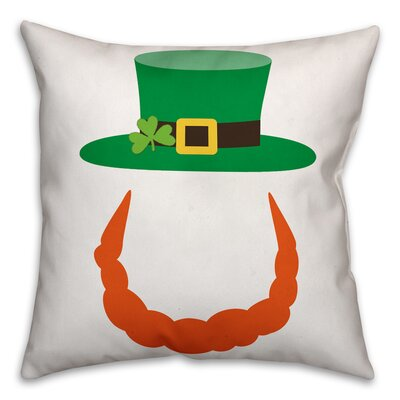 Benites Leprechaun Beard Throw Pillow