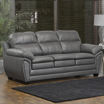 Coyle Leather Sofa Upholstery: Light Gray