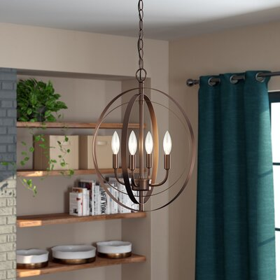 Gurney Slade 4-Light Globe Pendant Finish: Oil Rubbed Bronze