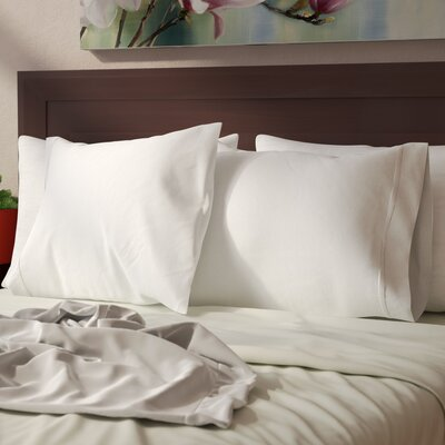 Cullen 800 Thread Count Cotton Pillowcase Size: 20 H x 30 W, Color: White