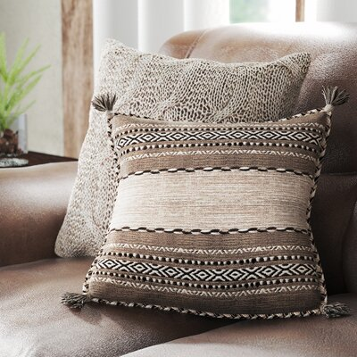 Alamosa Throw Pillow Size: 22 H x 22 W x 5 D, Color: Taupe