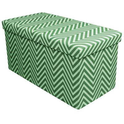 Gilligan Storage Ottoman Finish: Green