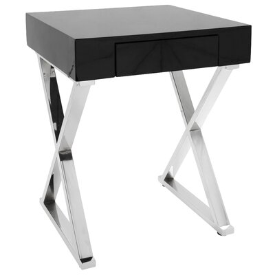 Deandra End Table Color: Black