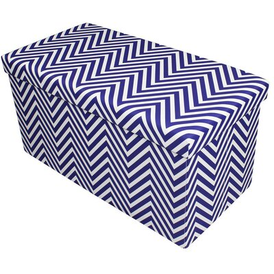 Gilligan Storage Ottoman Finish: Navy Blue