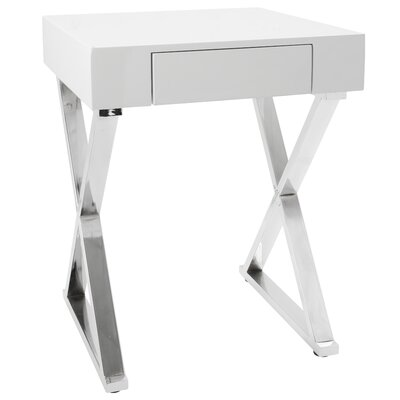 Deandra End Table Color: White