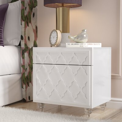 Fiora 2 Drawer Nightstand Color: White