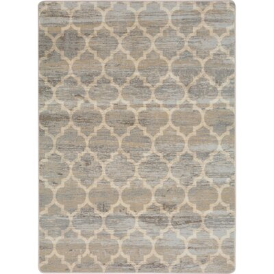 One-of-a-Kind Roxie Antique Hand Woven Gray/Beige Area Rug Rug Size: Rectangle 54 x 78