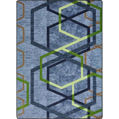One-of-a-Kind Frasher Double Helix Hand Woven Blue/Green Area Rug Rug Size: Rectangle 3'10