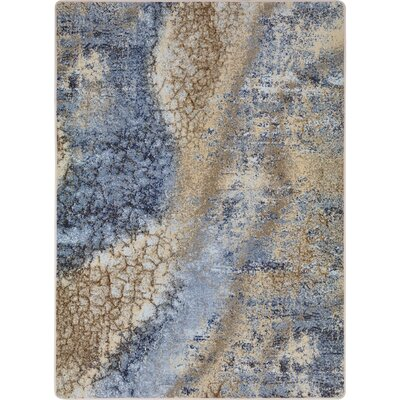 One-of-a-Kind Canup Hand Woven Blue/Beige Area Rug Rug Size: Rectangle 54 x 78