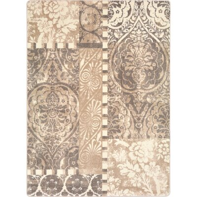 One-of-a-Kind Belding Hand Woven French Cream Area Rug Rug Size: Rectangle 54 x 78