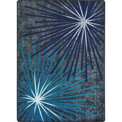 One-of-a-Kind Frasher Sputnik Hand Woven Blue/Gray Area Rug Rug Size: Rectangle 78 x 109