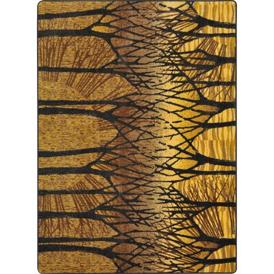One-of-a-Kind Oldfield Hand Woven Gold/Black Area Rug Rug Size: Rectangle 3'10