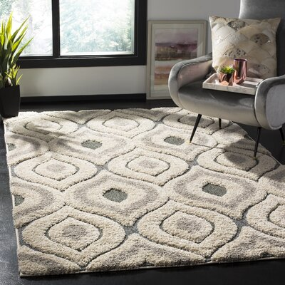 Wooster Cream/Light Blue Area Rug Rug Size: Rectangle 5 3 x 7 6
