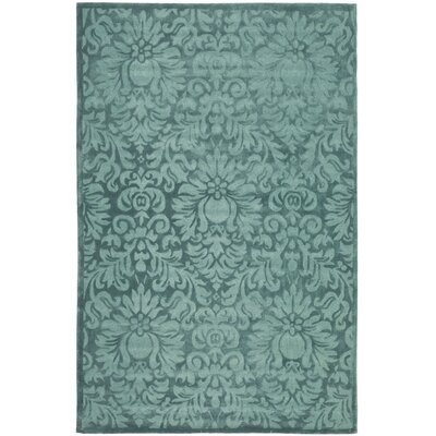Jonson Hand-Hooked Gray/Blue Area Rug Rug Size: Rectangle 3 x 5