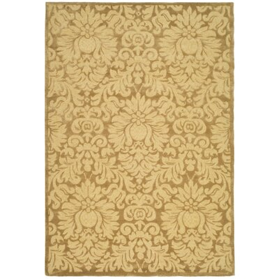 Jonson Hand-Hooked Beige Area Rug Rug Size: Rectangle 6 x 9