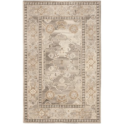 Amory Hand-Tufted Wool Light Gray Area Rug Rug Size: Rectangle 5 x 8