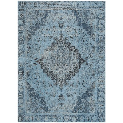 Chenault Blue Area Rug Rug Size: Rectangle 4 x 6