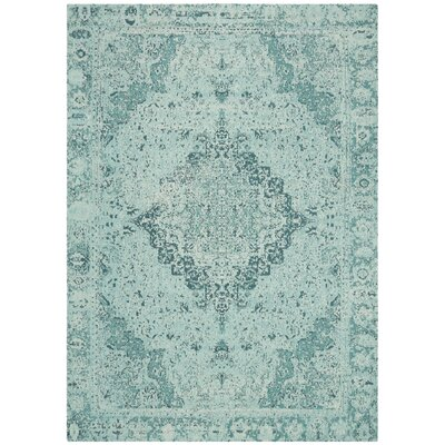 Chenault Teal Area Rug Rug Size: Rectangle 4 x 6