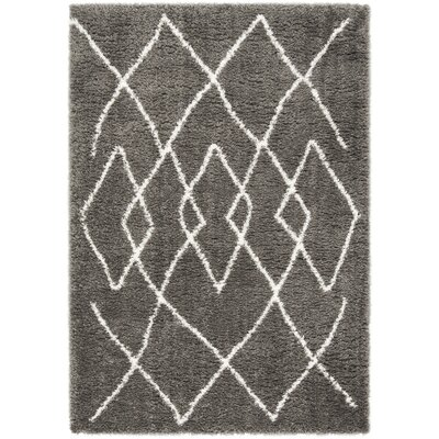 Casperson Charcoal/Ivory Area Rug Rug Size: Rectangle 8 x 10
