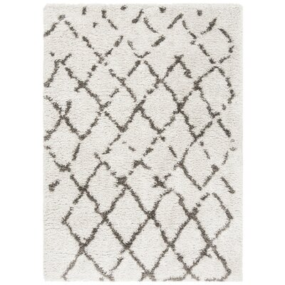Casperson Silver/Charcoal Area Rug Rug Size: Rectangle 5 3 x 7 6