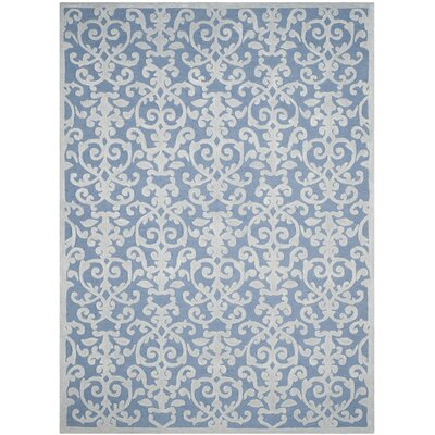 Jonathan Hand-Tufted Blue/Ivory Area Rug