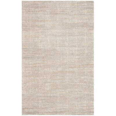 Burner Hand-Woven Ivory Area Rug Rug Size: Rectangle 4 x 6
