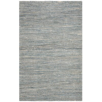 Burner Hand-Woven Blue/Ivory Area Rug Rug Size: Rectangle 4 x 6