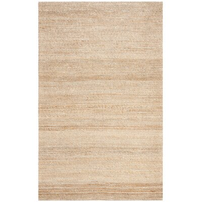Burner Hand-Woven Natural/Ivory Area Rug Rug Size: Rectangle 6 x 9
