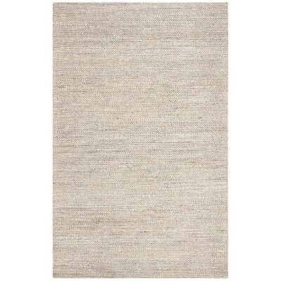 Burner Hand-Woven Light Gray Area Rug Rug Size: Rectangle 3 x 5