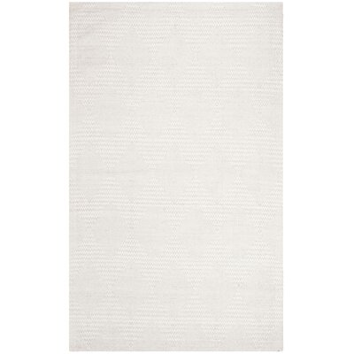 Burner Hand-Woven Silver/Ivory Area Rug Rug Size: Rectangle 6 x 9