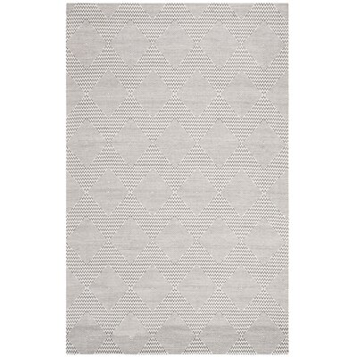 Burner Hand-Woven Dark Gray/Ivory Area Rug Rug Size: Rectangle 6 x 9