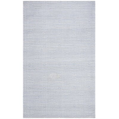 Burner Hand-Woven Dark Blue/Ivory Area Rug Rug Size: Rectangle 3 x 5