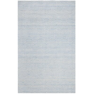 Burner Hand-Woven Light Blue/Ivory Area Rug Rug Size: Rectangle 4 x 6
