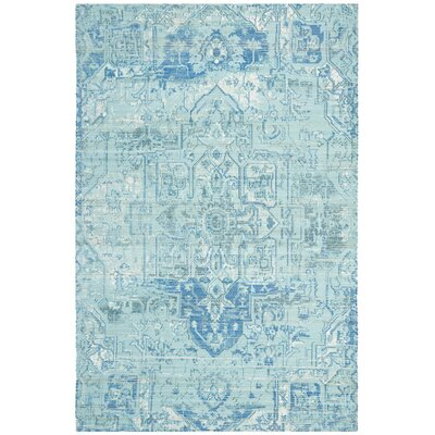 Cheng Hand Woven Aqua/Blue Area Rug Rug Size: Rectangle 3 x 5