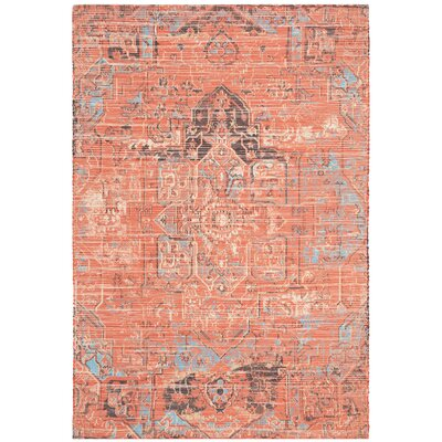 Cheng Hand Woven Rust/Blue Area Rug Rug Size: Rectangle 4 x 6
