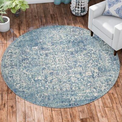 Elson Tibetan Blue/Beige Area Rug Rug Size: Round 67