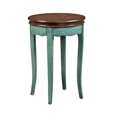 Detwiler End Table Table Base Color: Teal