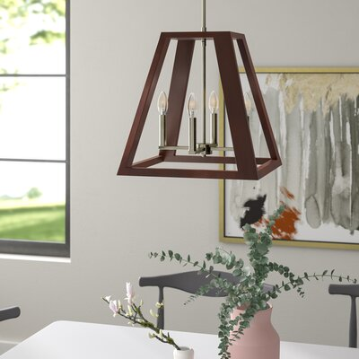 Cedric 4-Light Foyer Pendant Finish: Brass