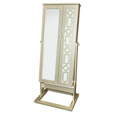 Cristobal Cheval Jewelry Armoire with Mirror