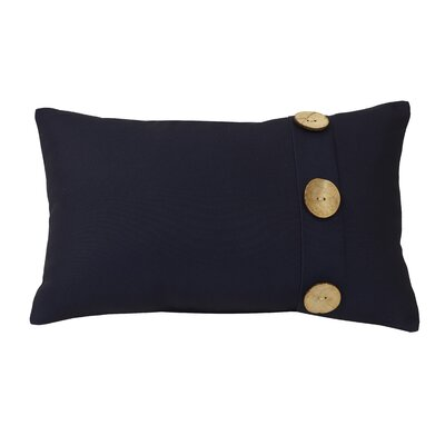 Hopkinton Indoor/Outdoor Lumbar Pillow Color: Navy