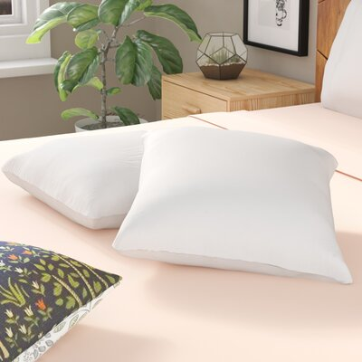 White Pillow Insert Size: 16 H x 16 W
