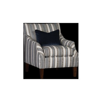 Durso Club Chair Upholstery: Abode Flannel Striped