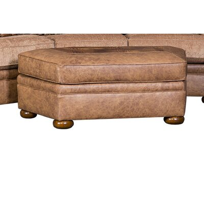 Bedingfield Leather Ottoman Upholstery: Englehart Rustone