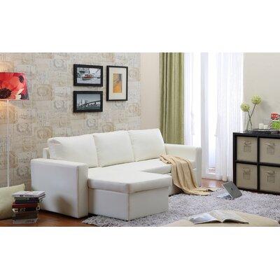 Wroblewski Storage Modular Sectional Upholstery: White