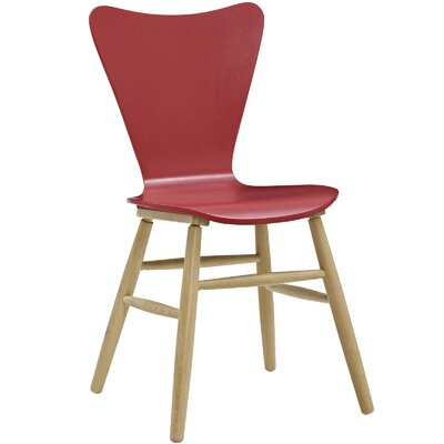 Coleman Wood Upholstered Dining Chair Finish: Red