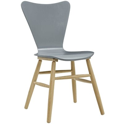Coleman Wood Upholstered Dining Chair Finish: Gray